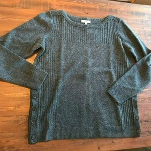 NWT NEW Madewell Women's Sweater Large Buttons